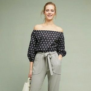 Anthropologie Maeve Maiden Off-The-Shoulder Blouse